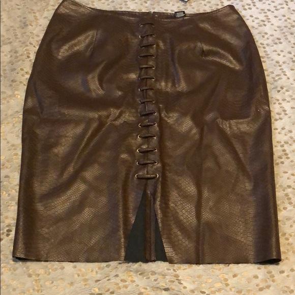 7f0af810c4c17 Plus size faux leather skirt. NWT. Ashley Stewart
